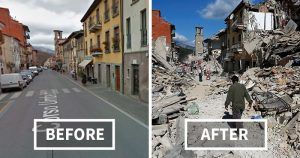 efectele unui cutremur recent din Italia - imagine preluată de pe google images via www.boredpanda.com